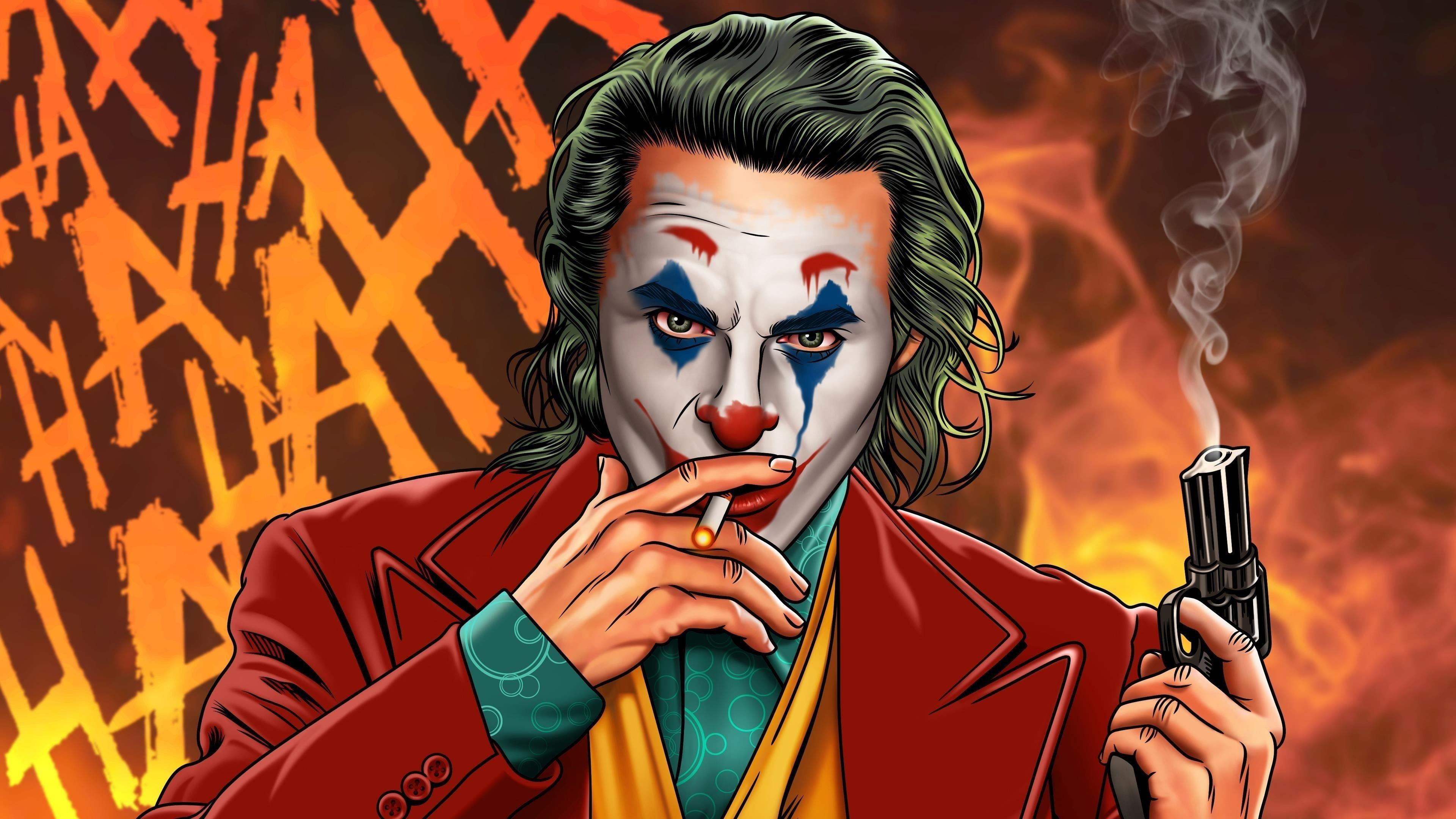Джокер курильщик джентльмены супергерои обои скачать