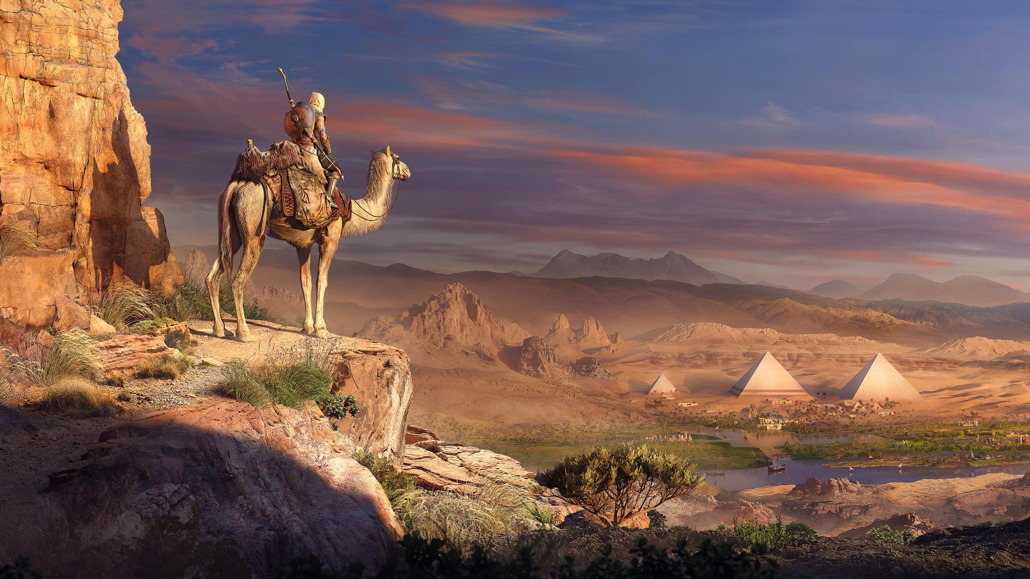Ассассинс Крид происхождение пирамид. обои скачать