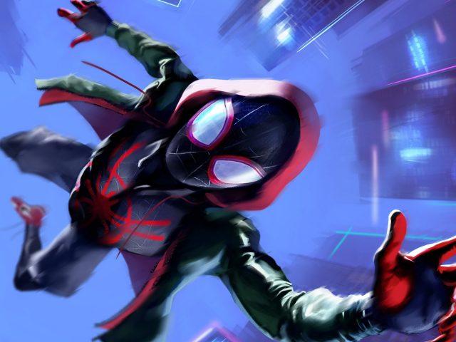 Майлз Моралес в «Человеке-пауке в стихе паука»