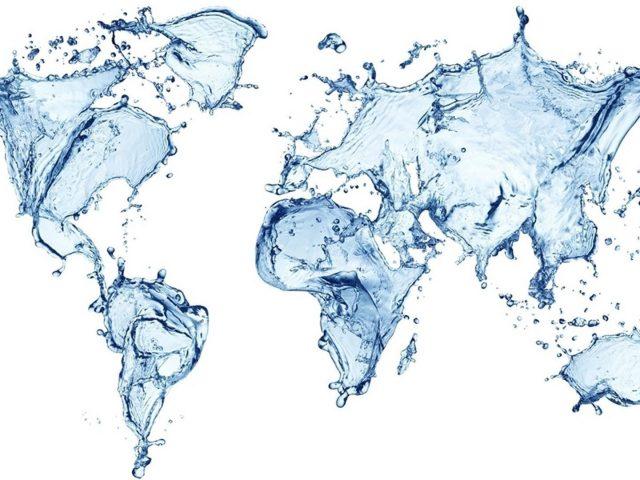 Синяя водная карта мира аннотация