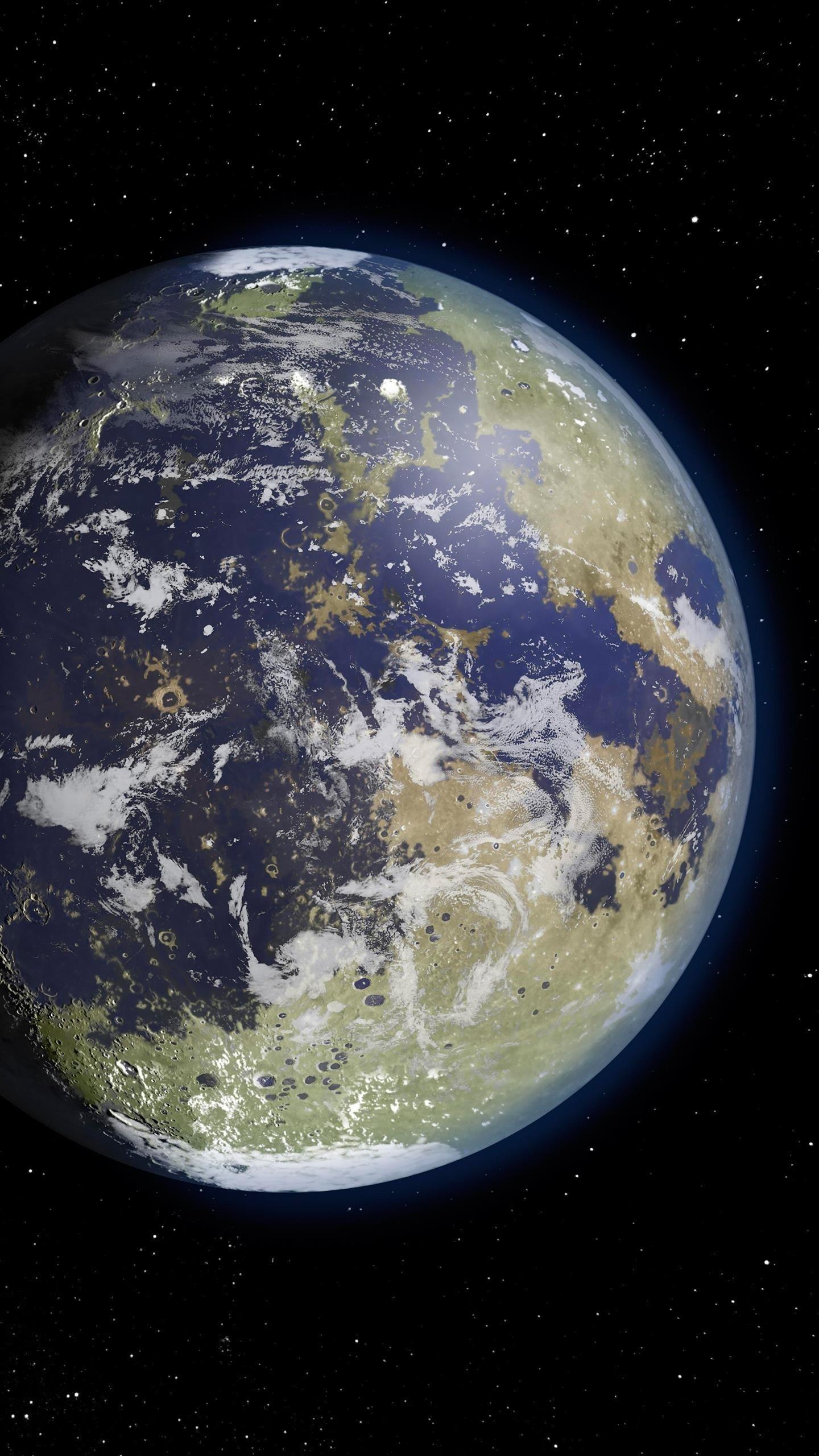 Луна с атмосферой обои скачать