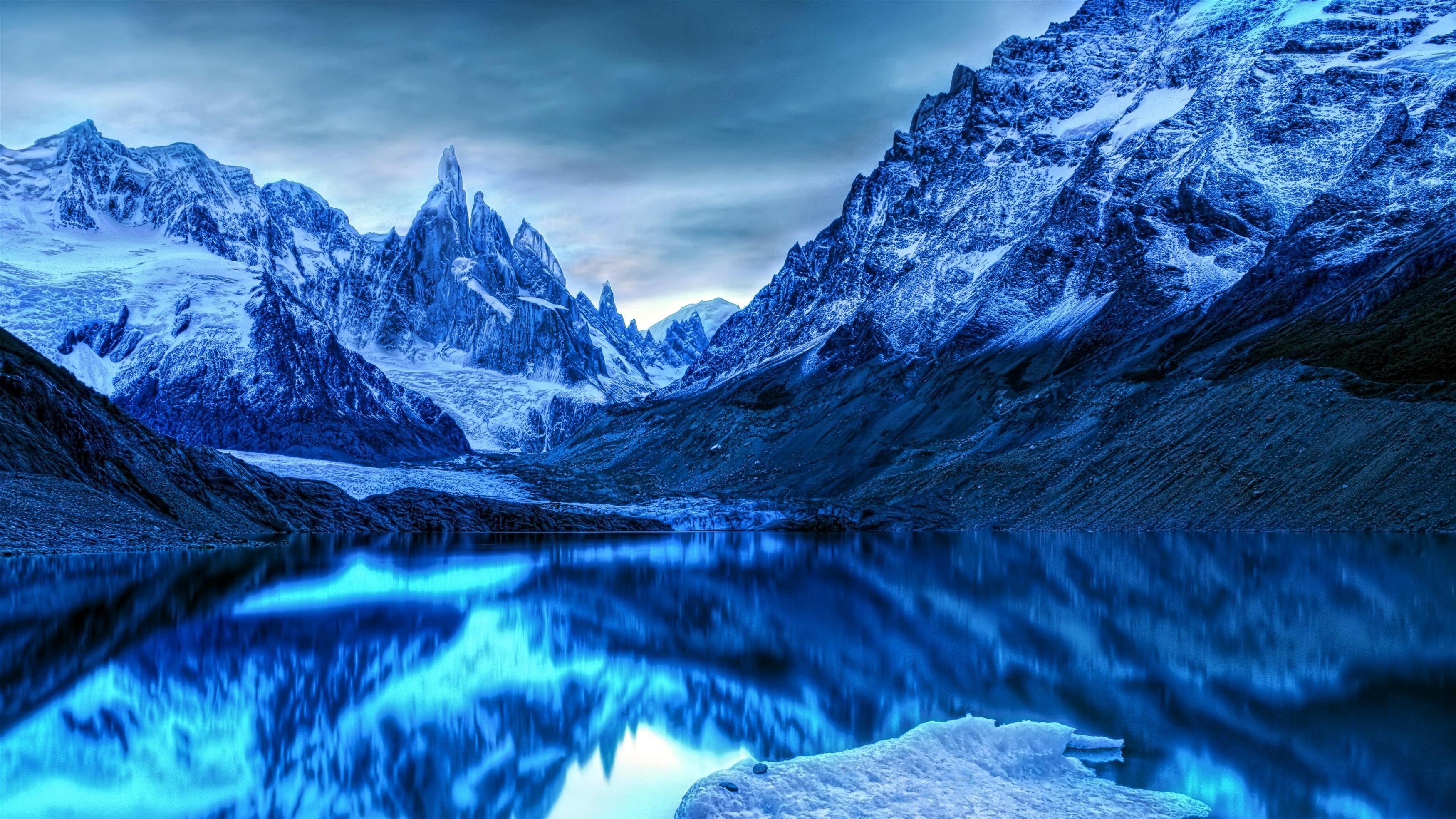 Зимние горы Антарктиды обои скачать