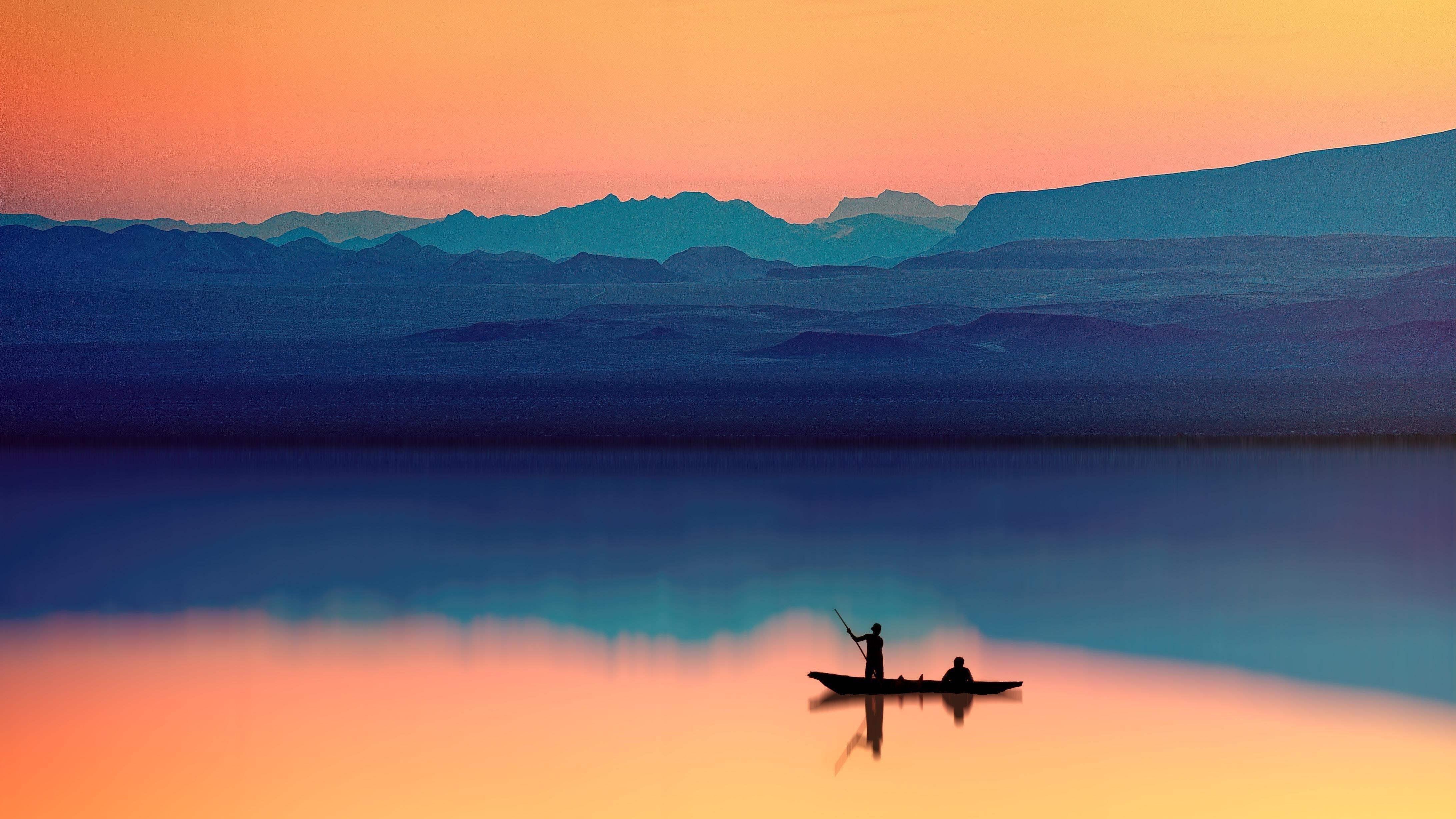 Живописный пейзаж заката обои скачать