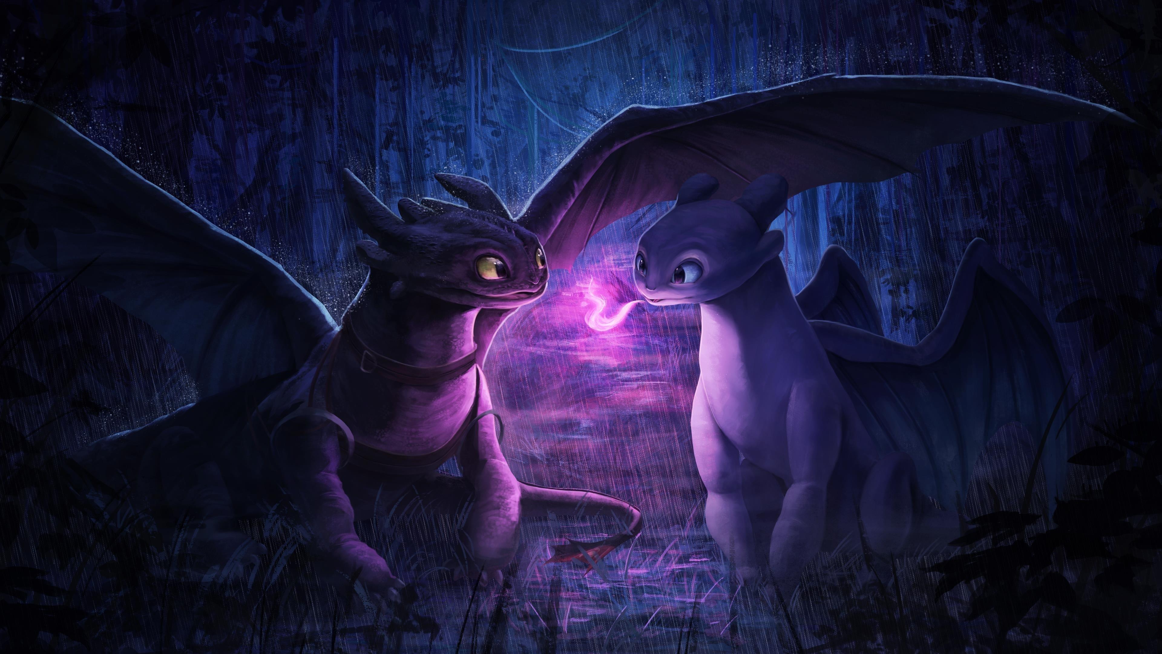 Ночная фурия свет ярости обои скачать