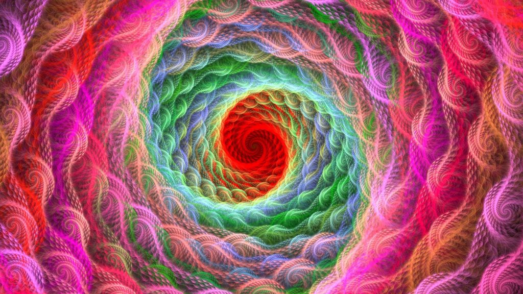 Спираль яркая красочная закрученная абстракция обои скачать