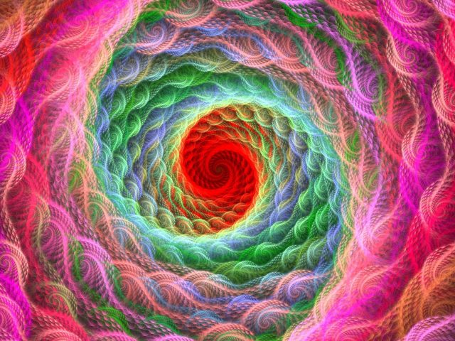 Спираль яркая красочная закрученная абстракция