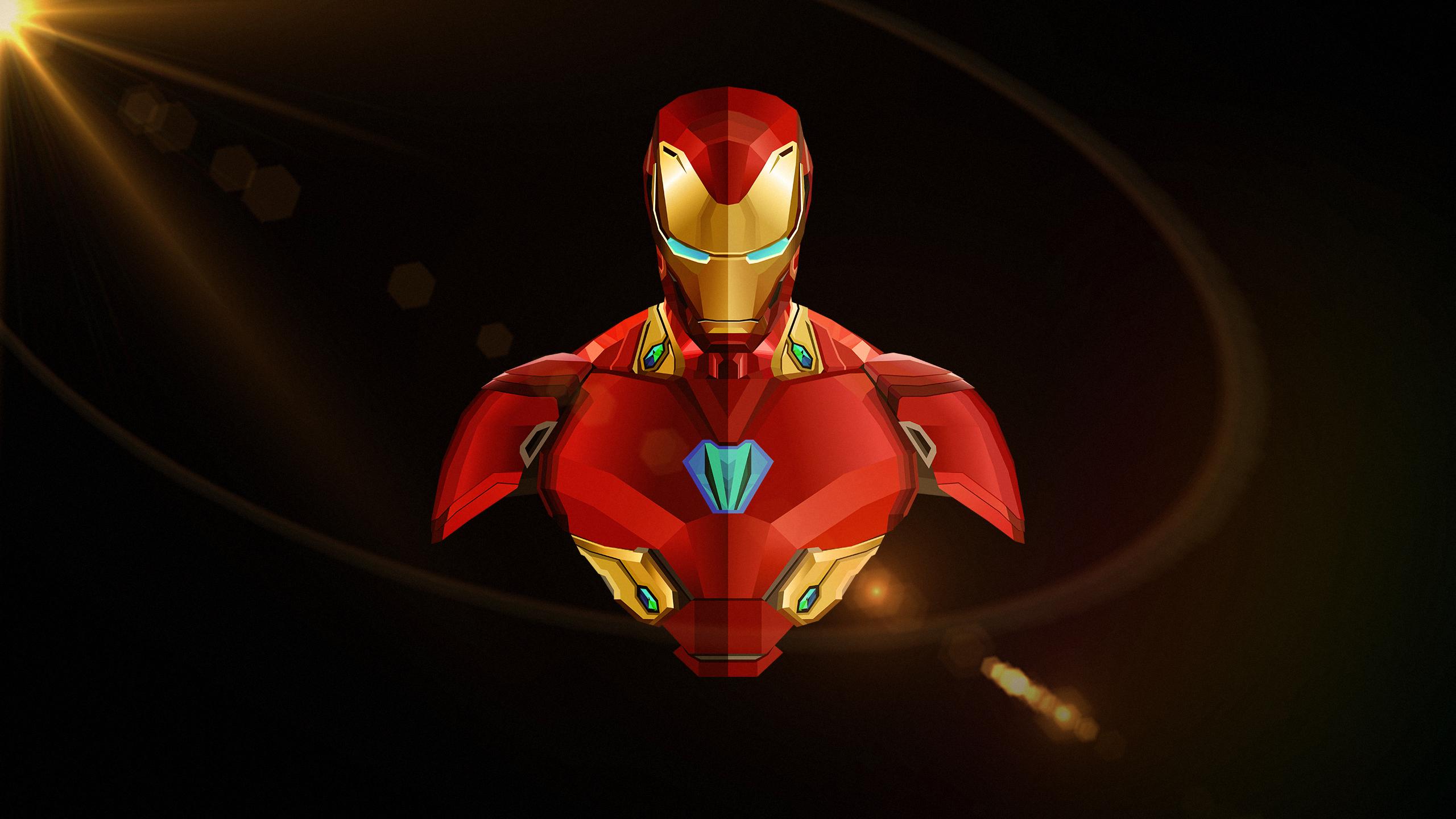 Железный человек Мстители бесконечность войны минимальный обои скачать