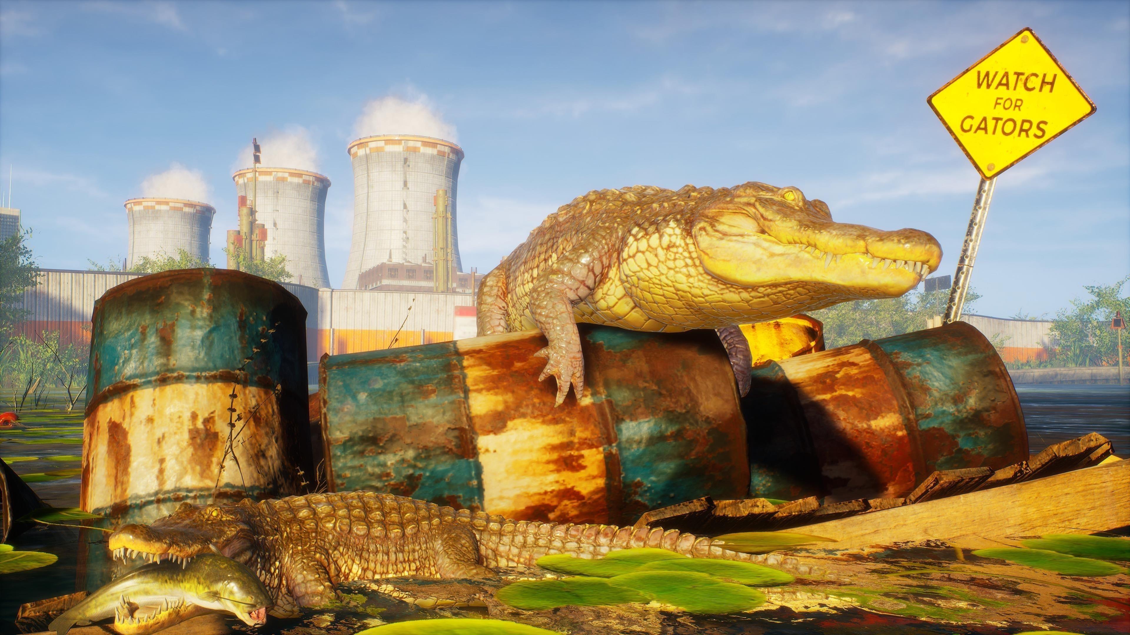 Людоеда крокодила 4К обои скачать