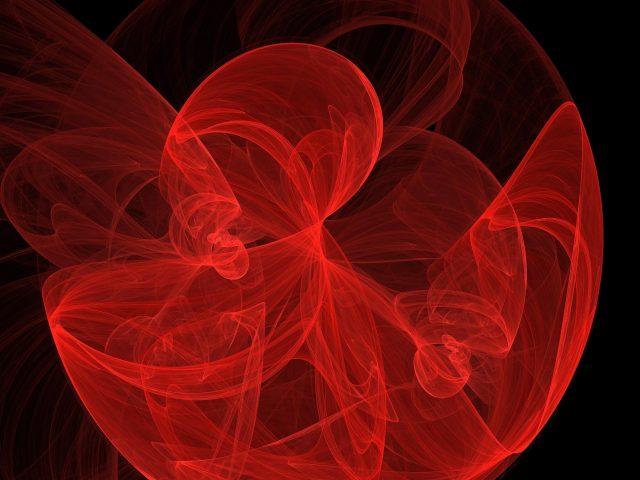 Красный фрактал арт