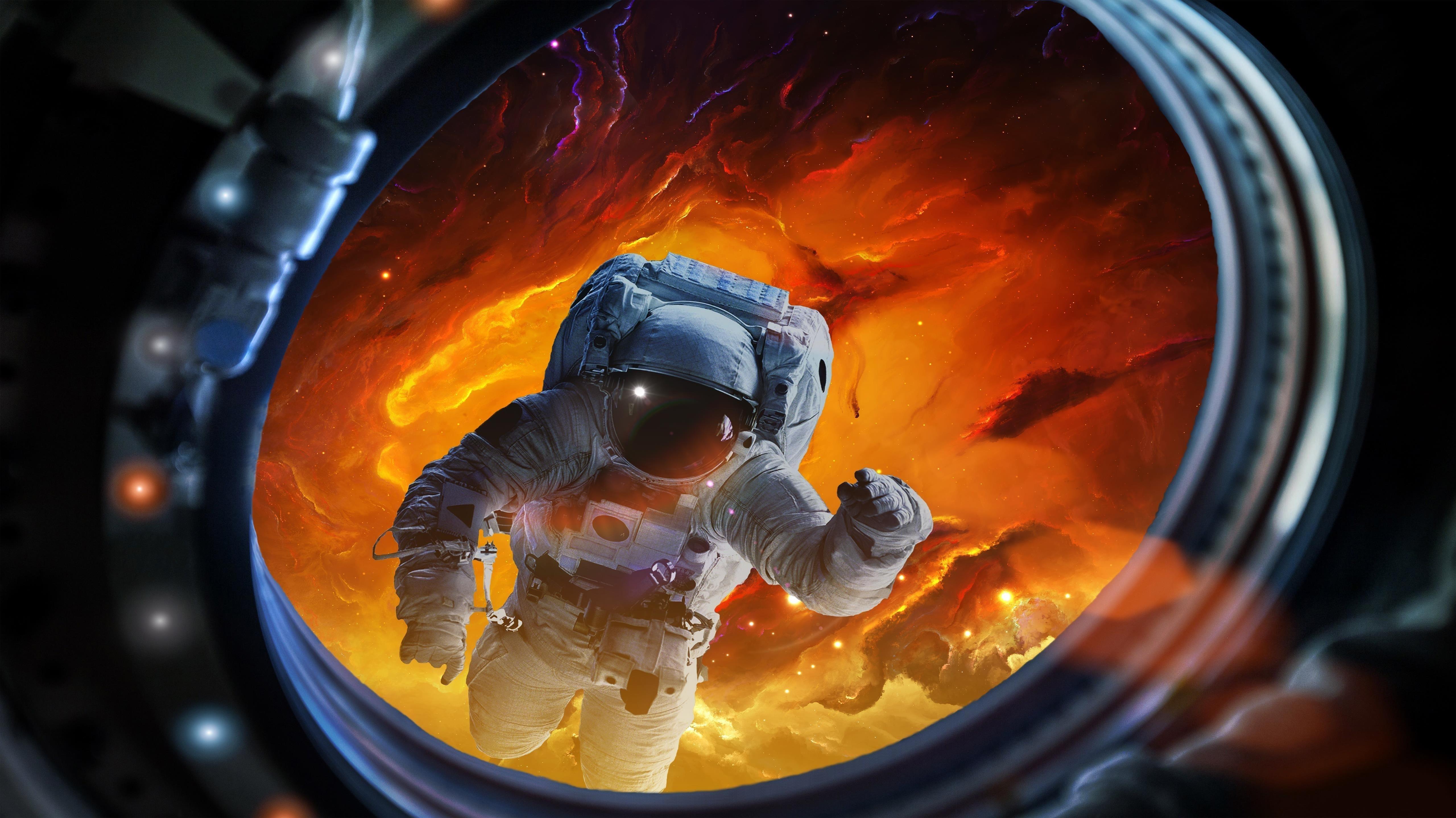 Космонавт в скафандре обои скачать