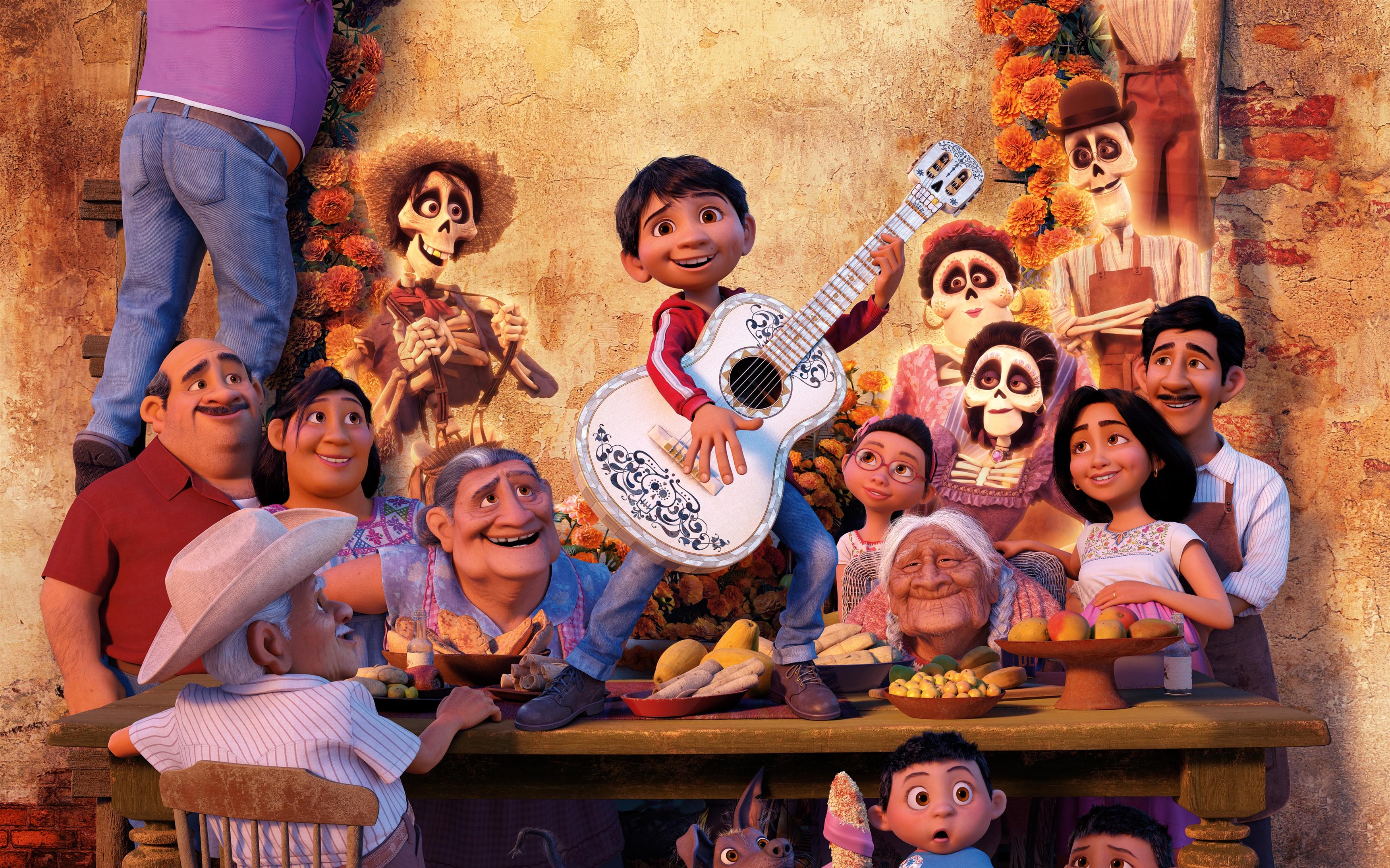 Pixar Coco Miguel обои скачать