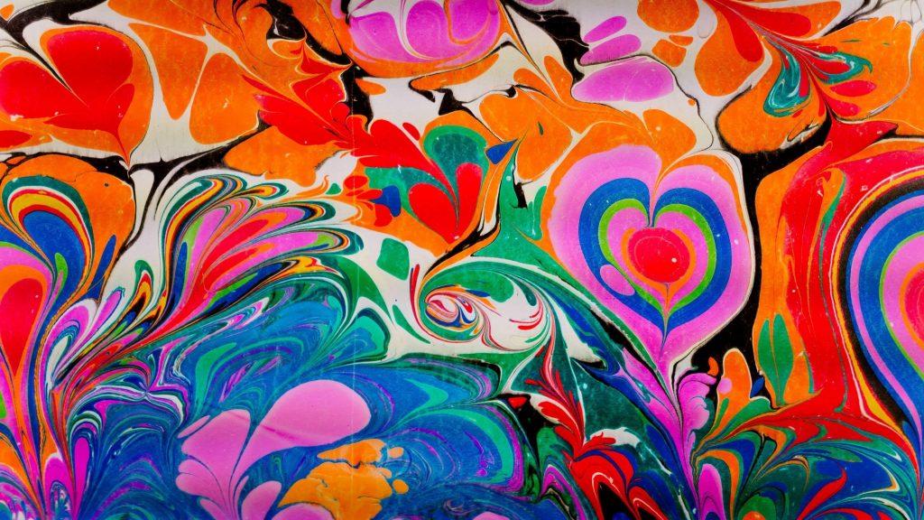Красочная краска жидкий узор абстрактный обои скачать
