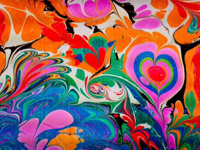 Красочная краска жидкий узор абстрактный