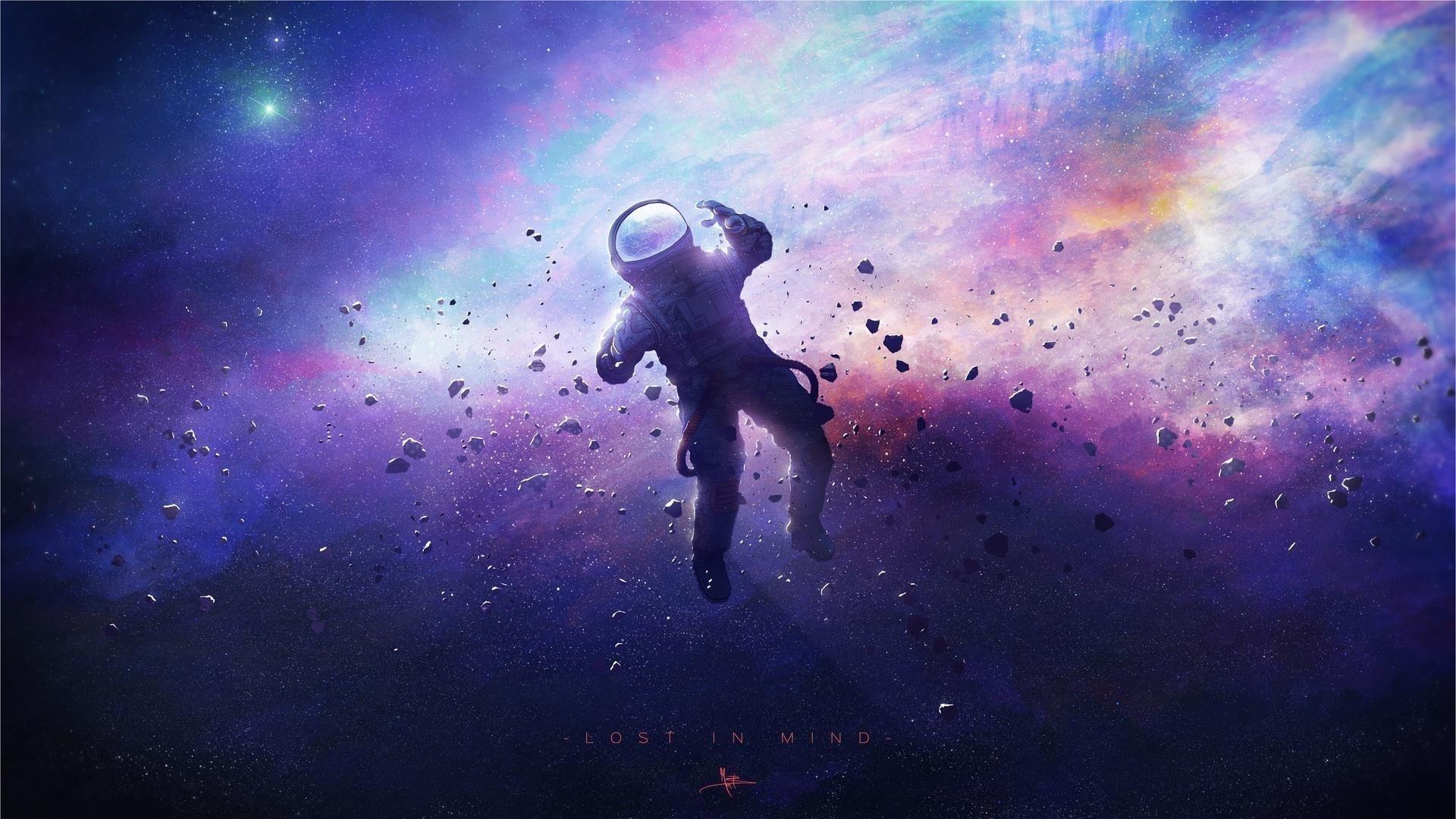 Затерянный в космосе обои скачать