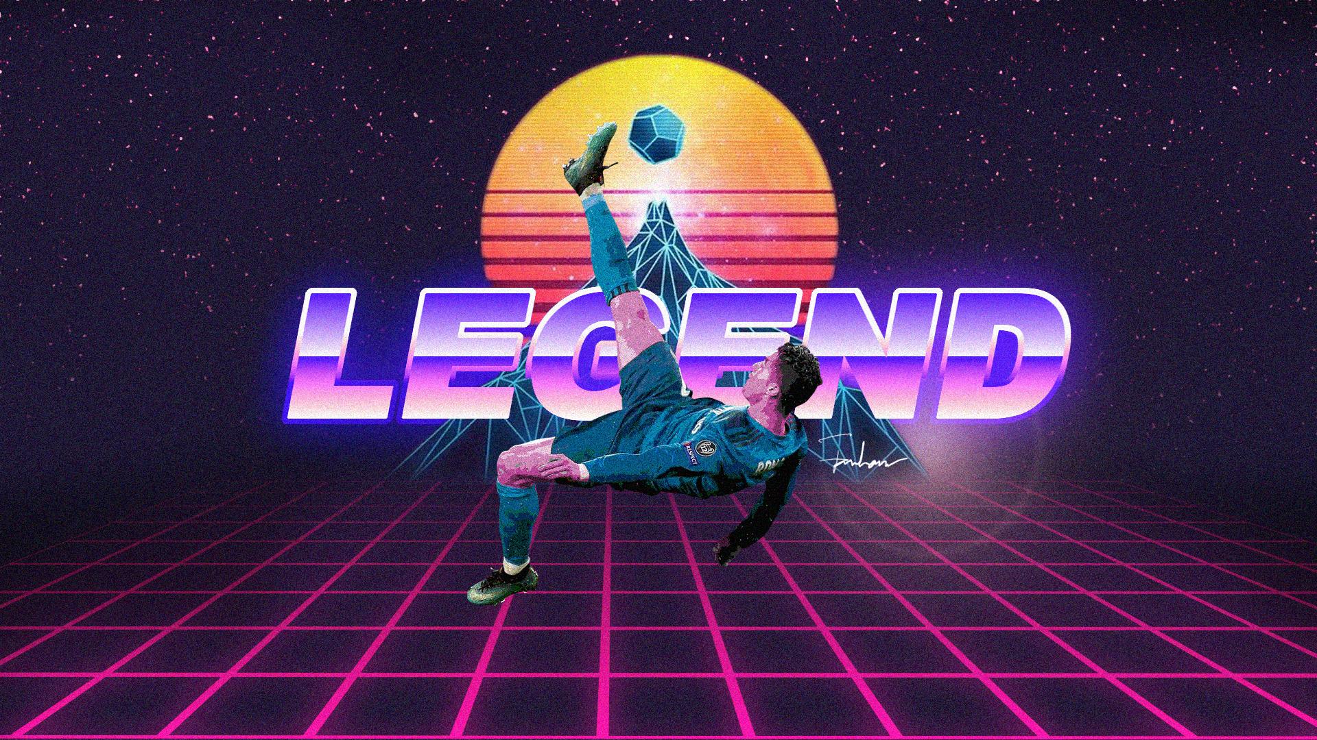 Легенда Криштиану Роналду ретро обои скачать