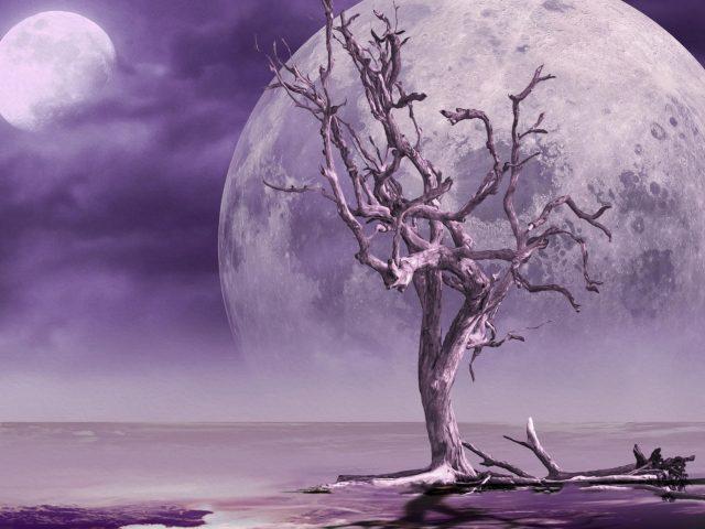 Фантастический лунный пейзаж