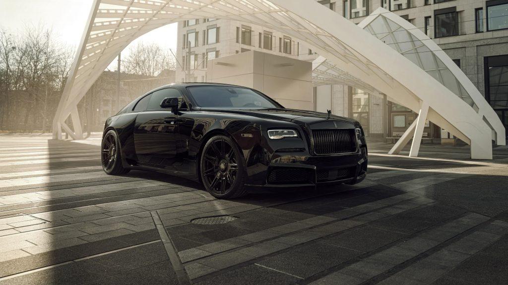 Spofec rolls royce wraith черный значок передозировка 2021 3 автомобиля обои скачать