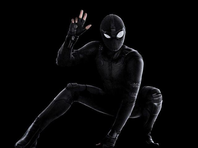 Человек-паук Вдали от дома черный костюм-невидимка