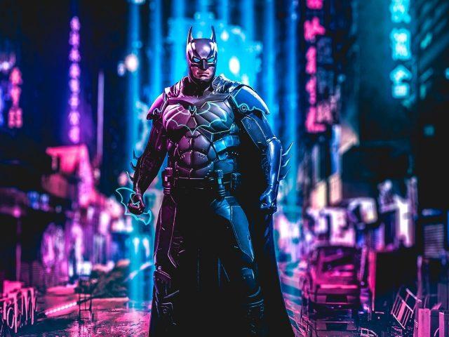 Бэтмен киберпанк искусство