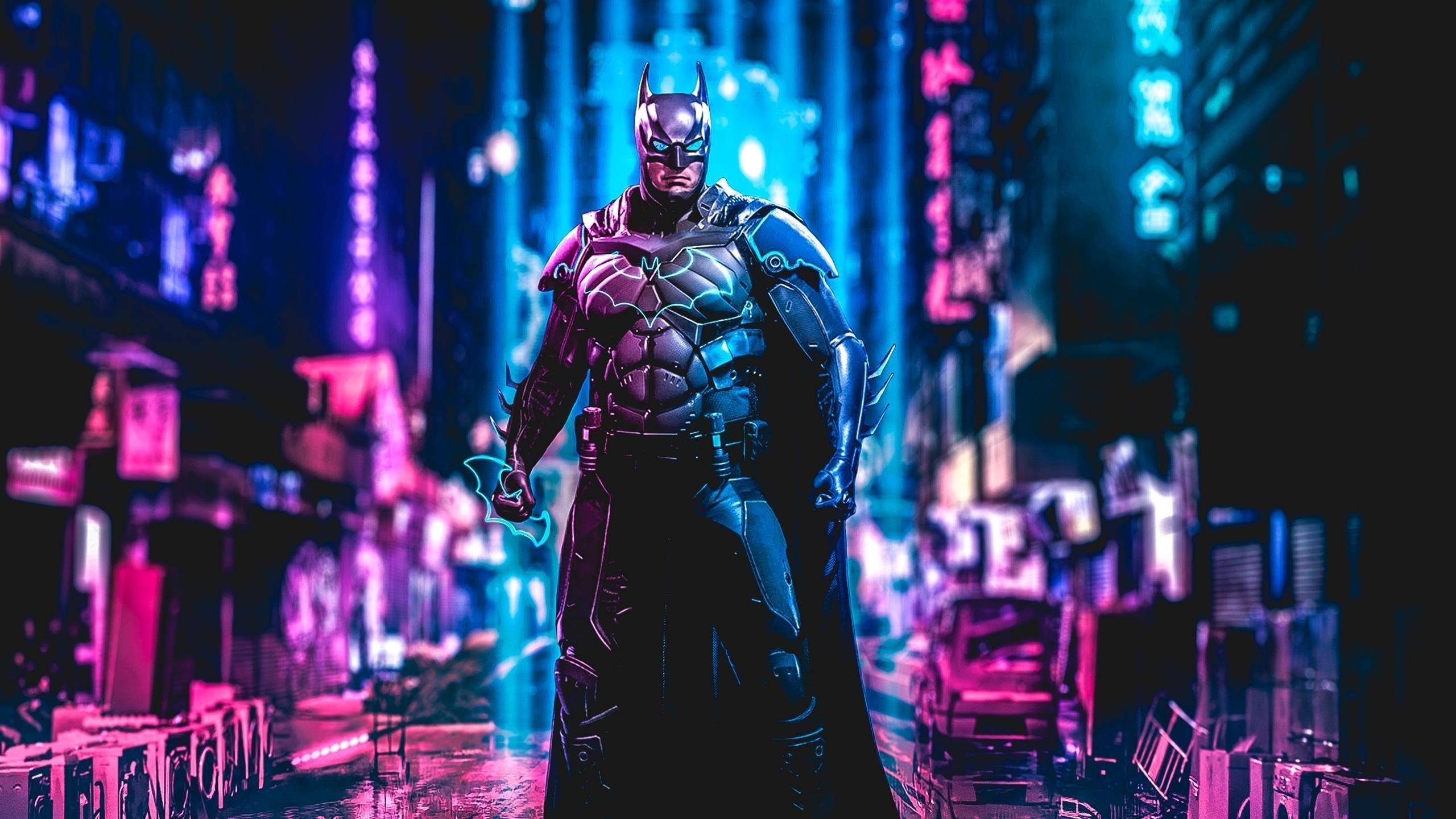 Бэтмен киберпанк искусство обои скачать
