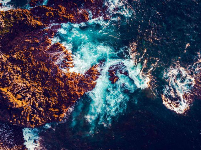 Морской вид с воздуха