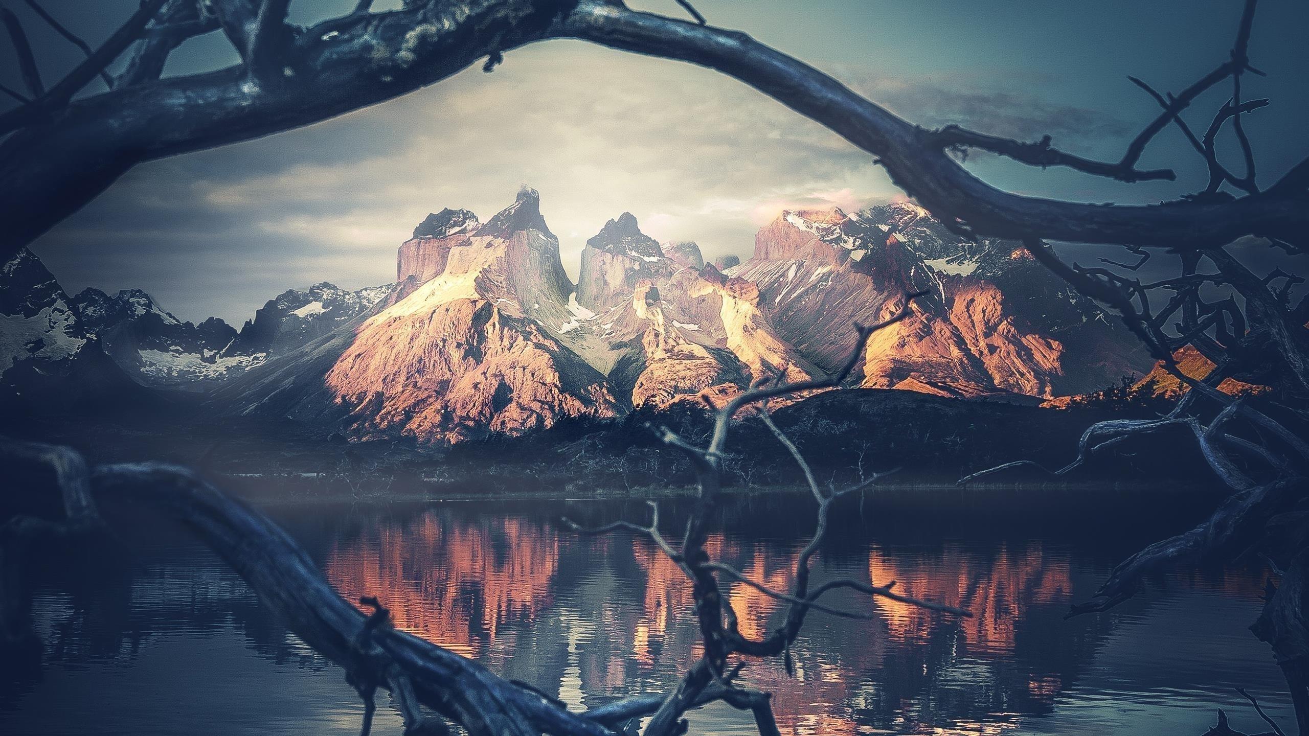 Горный пейзаж обои скачать