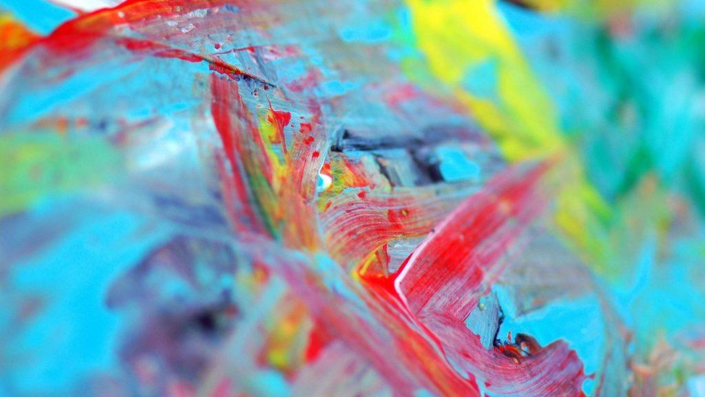 Красочные пятна водной краски абстрактные обои скачать
