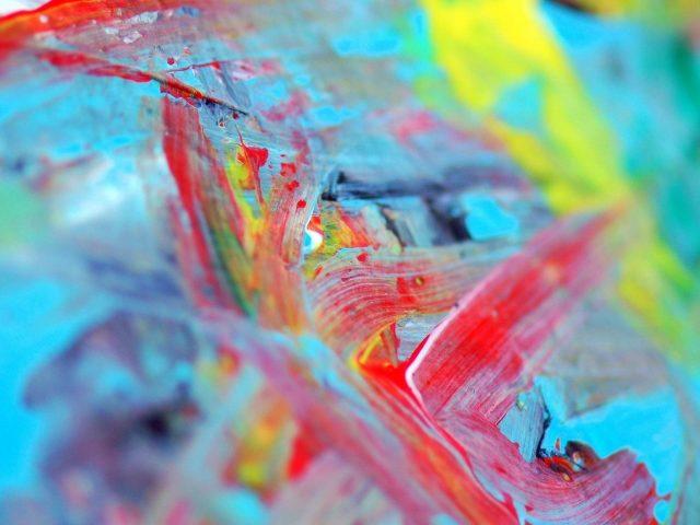 Красочные пятна водной краски абстрактные