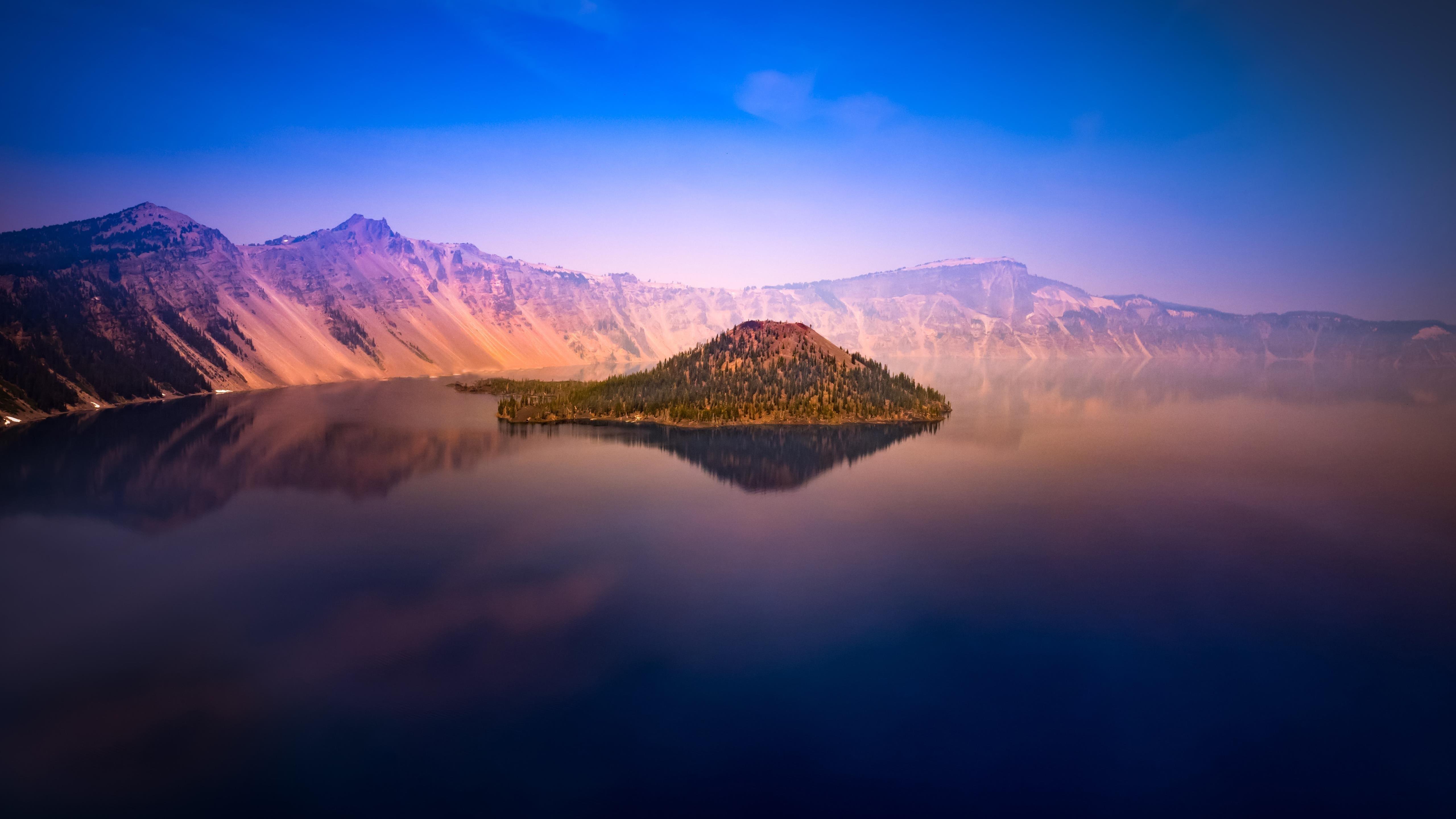 Crater lake in oregon обои скачать