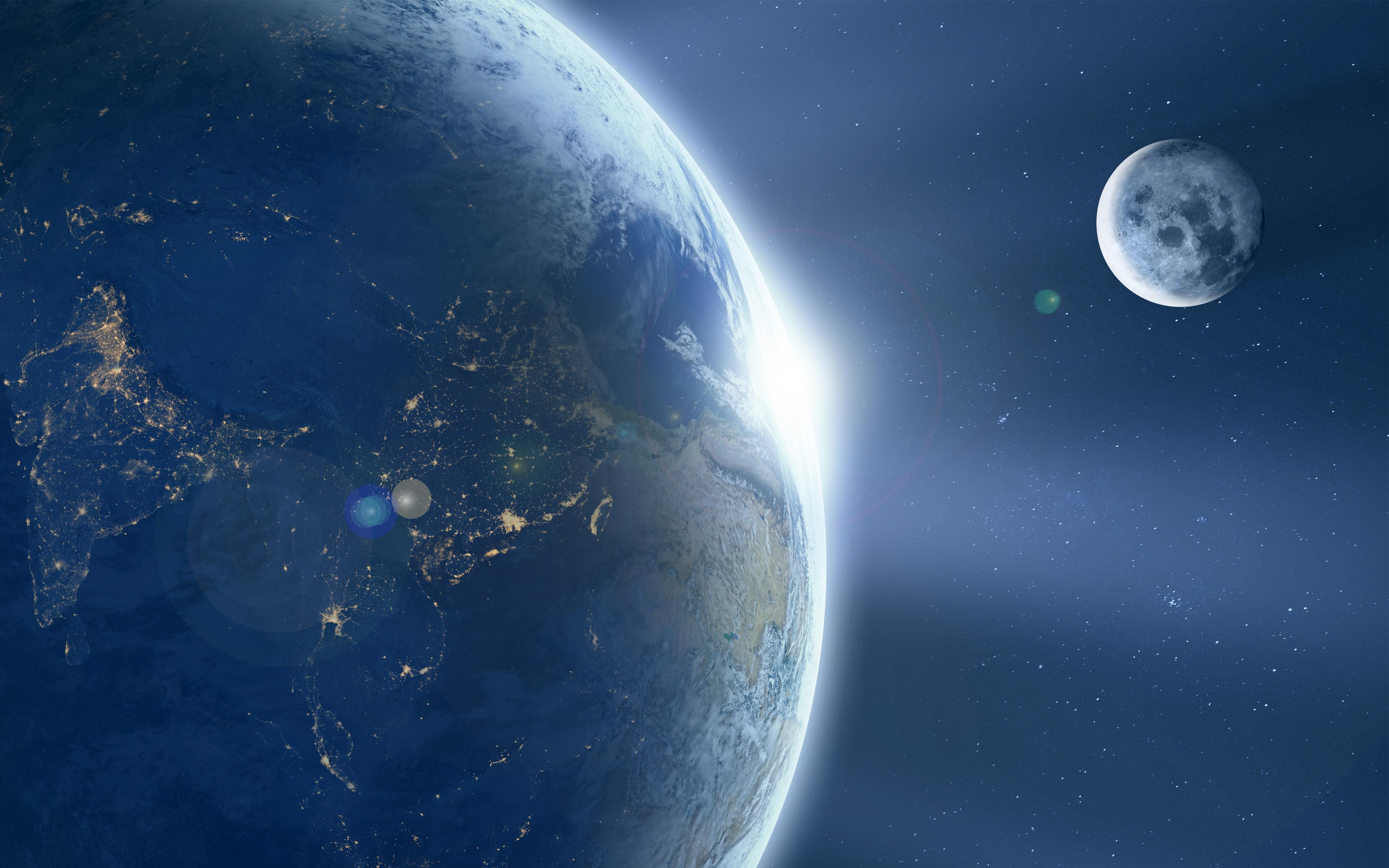 Земля-луна обои скачать