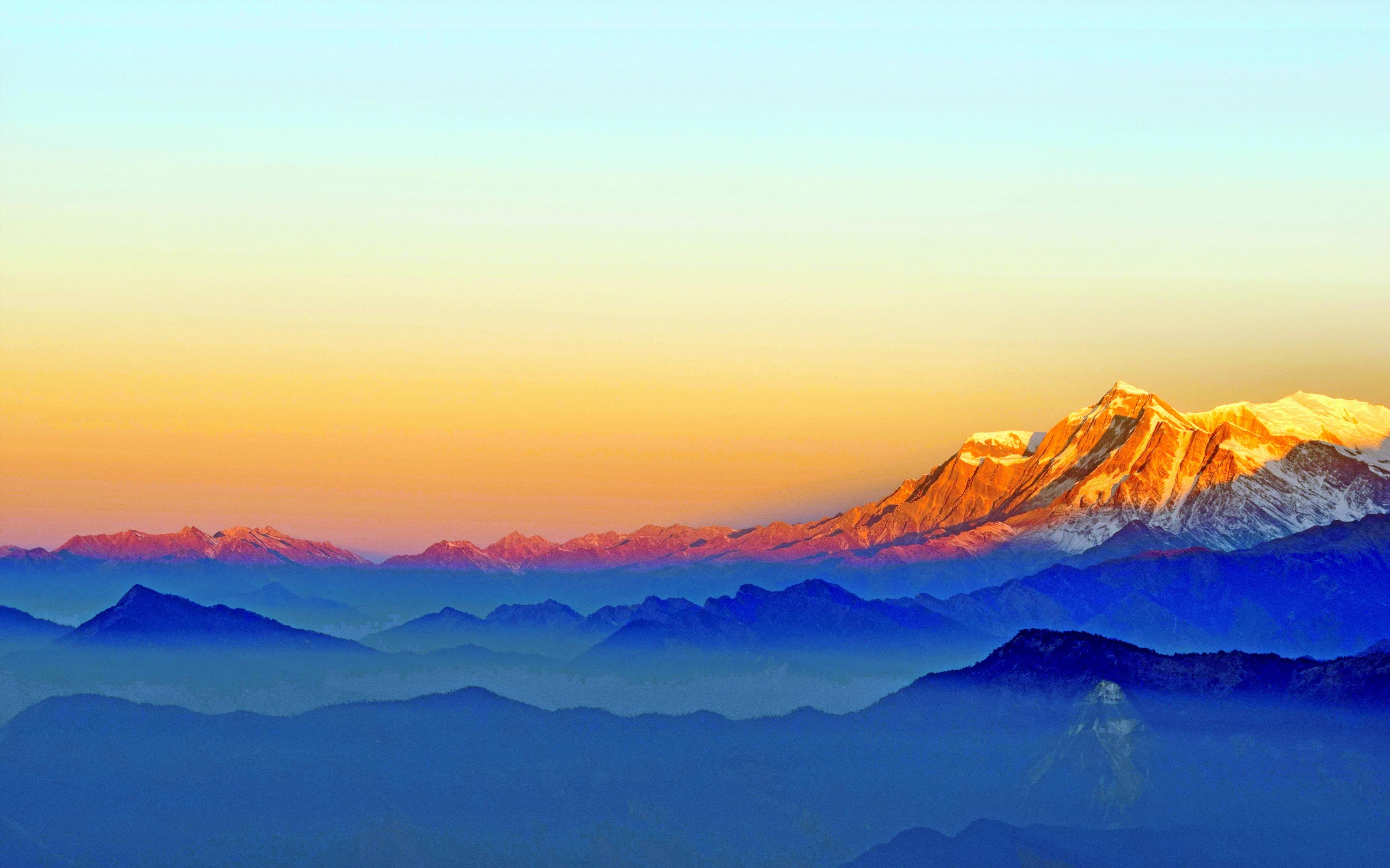 Горы Восход. обои скачать