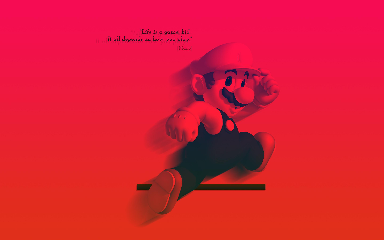 Жизнь-это игра Марио обои скачать