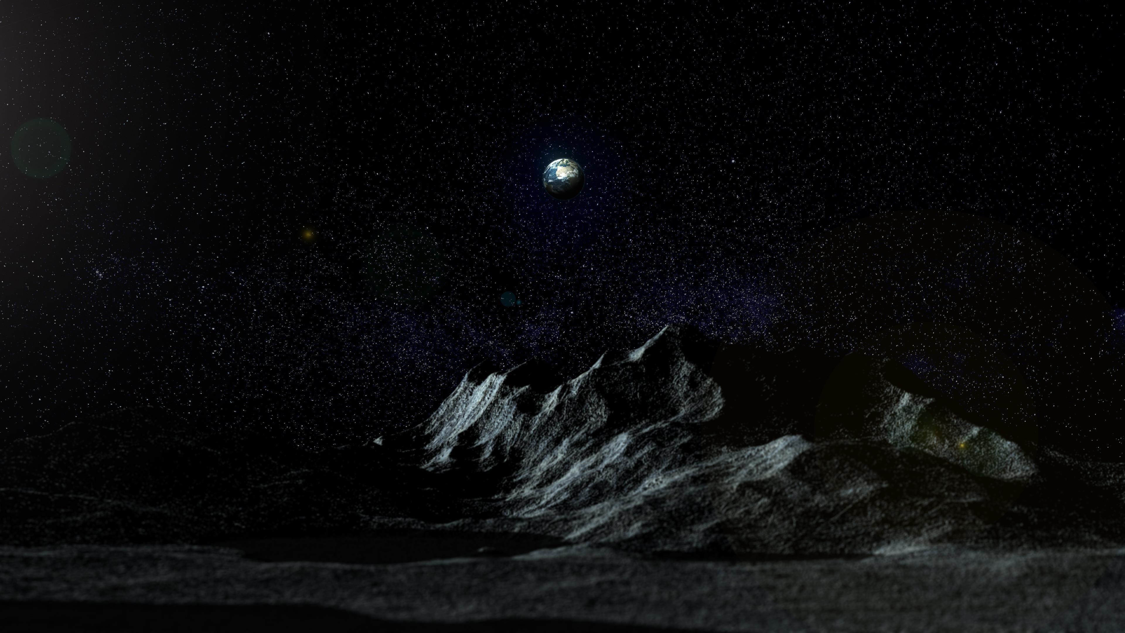 Земля от Луны обои скачать