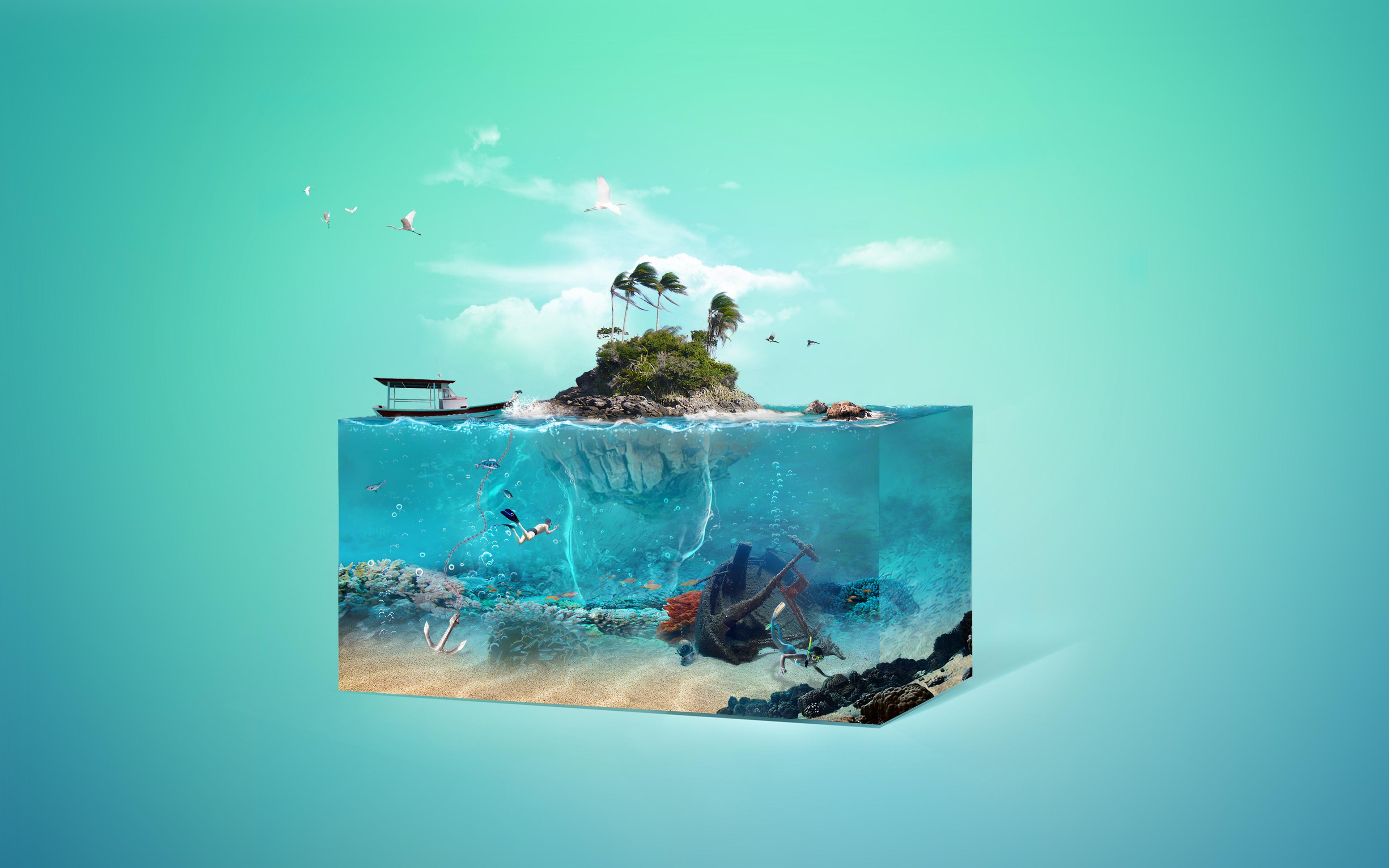 Остров мечты обои скачать
