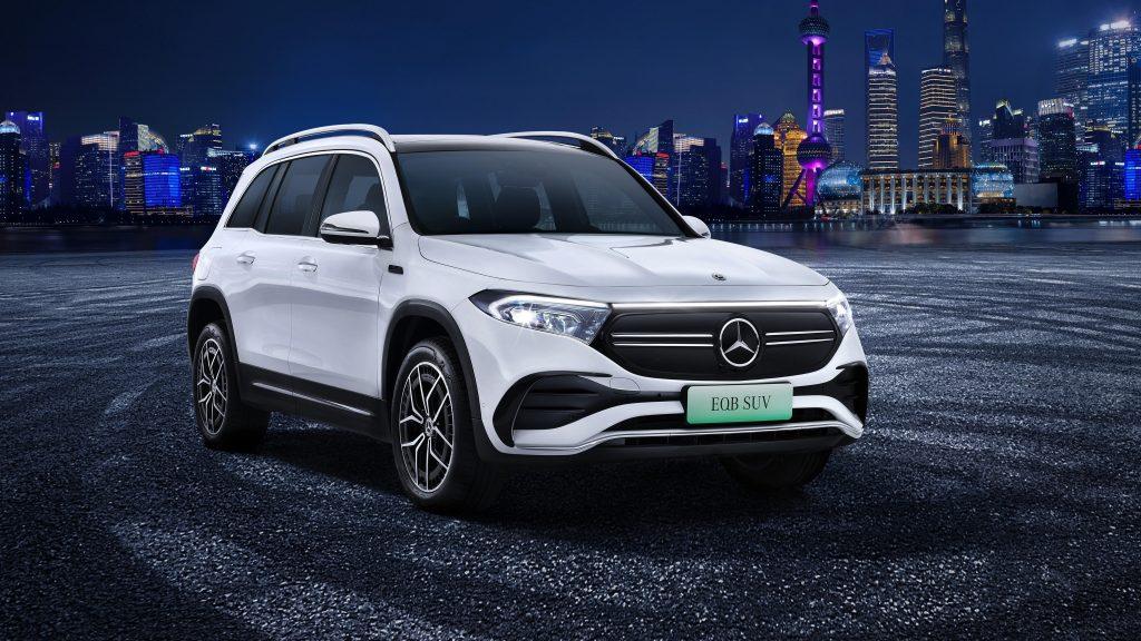 Mercedes benz eqb 350 4matic amg line 2021 автомобили обои скачать