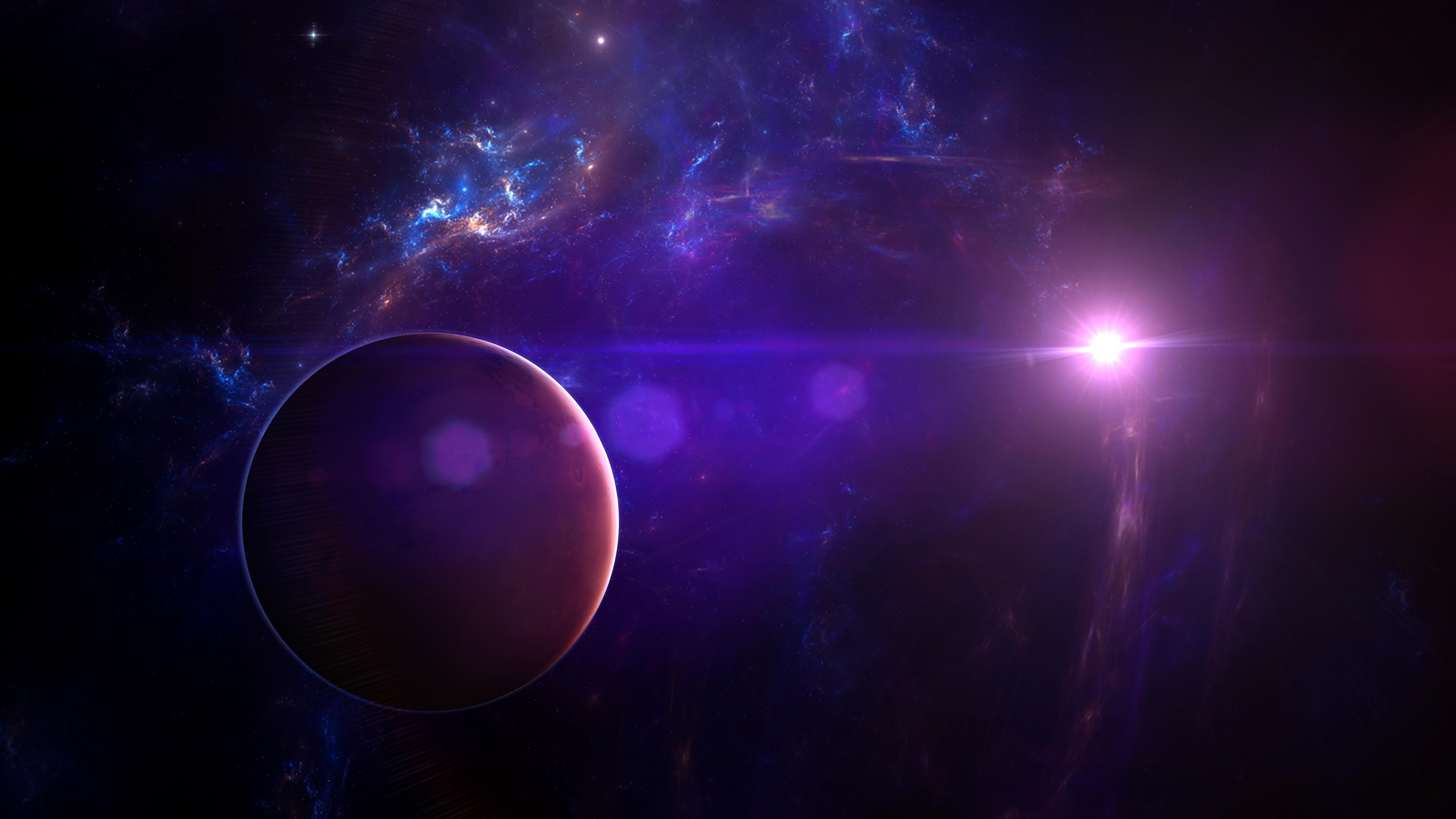 Фиолетовая туманность обои скачать