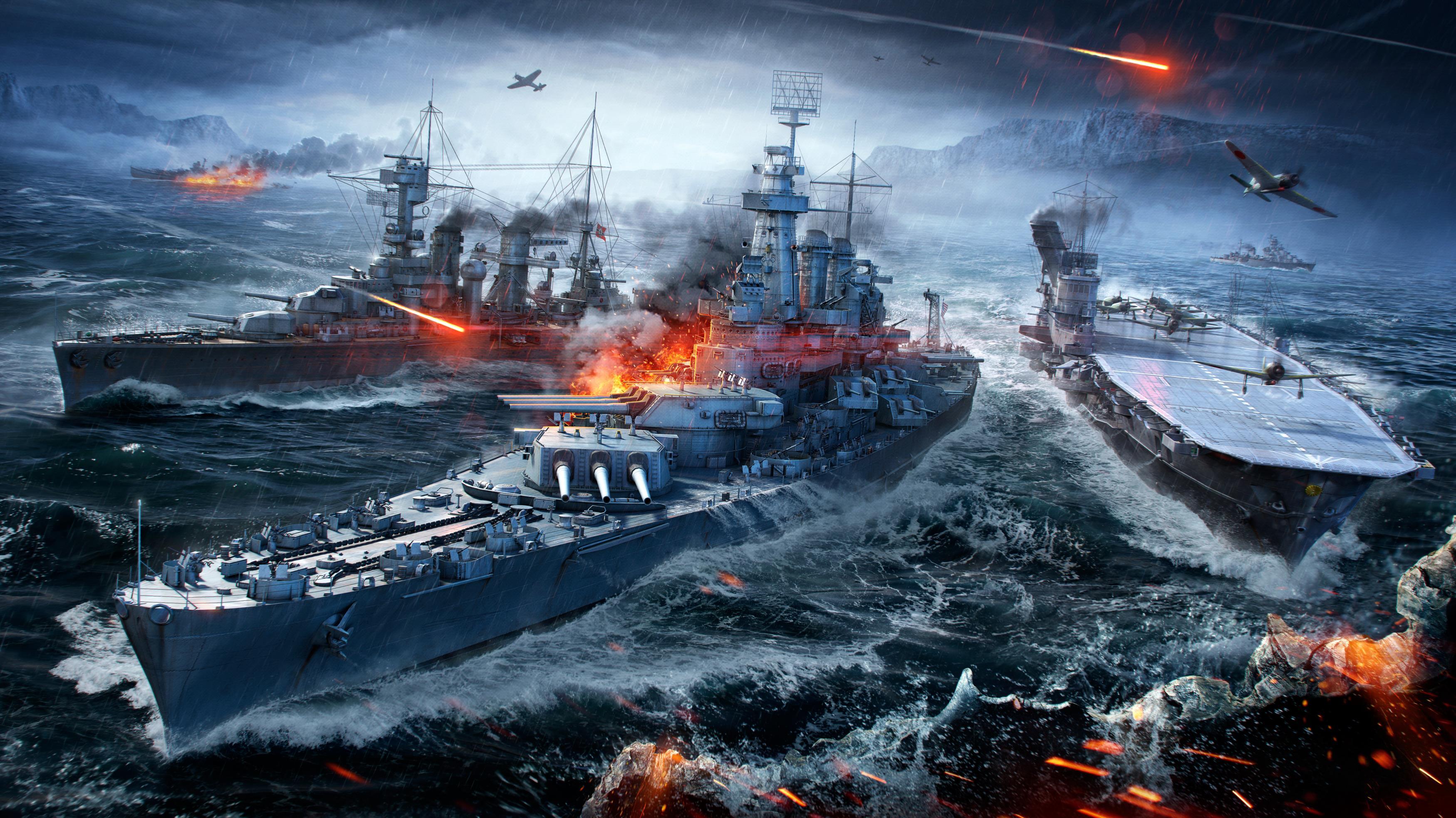 Мир боевых кораблей военно-морских Морской бой обои скачать