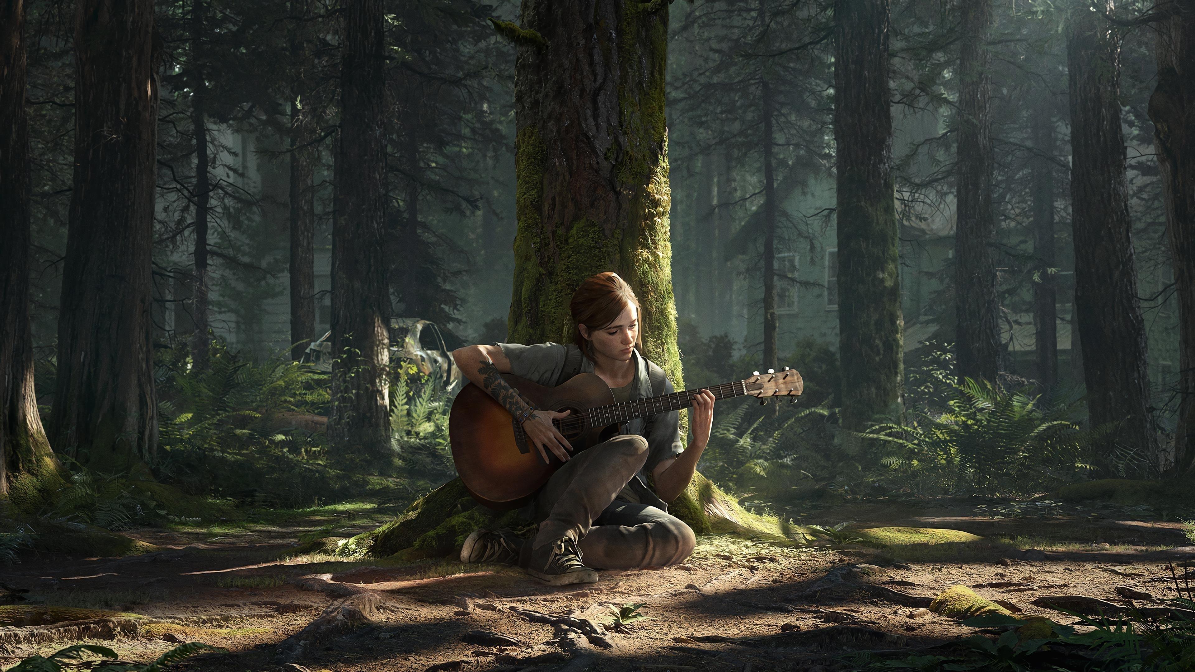 Последний из нас Часть ii Элли сидит под деревом обои скачать