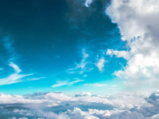 Ясное голубое небо природа