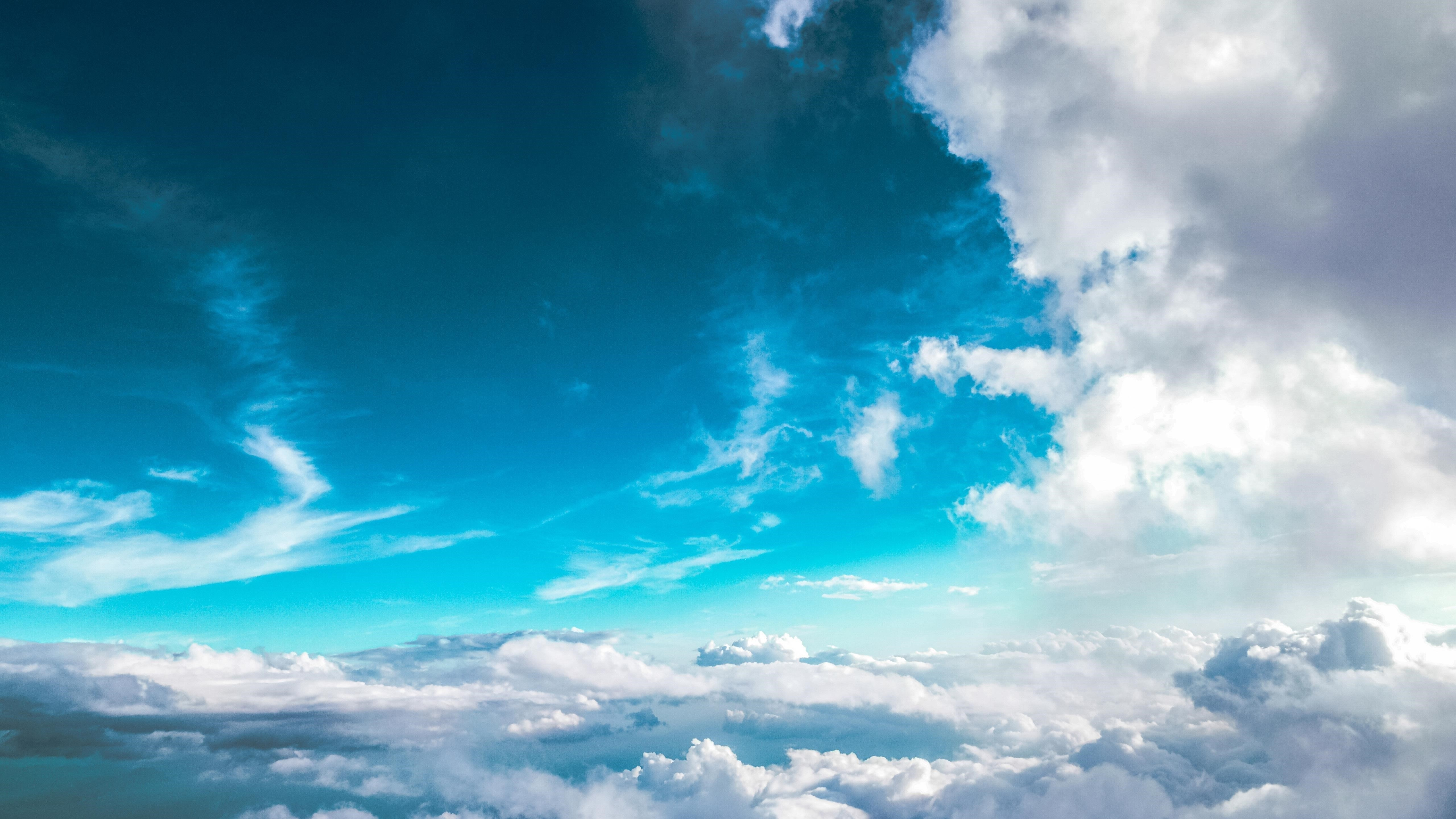 Ясное голубое небо природа обои скачать