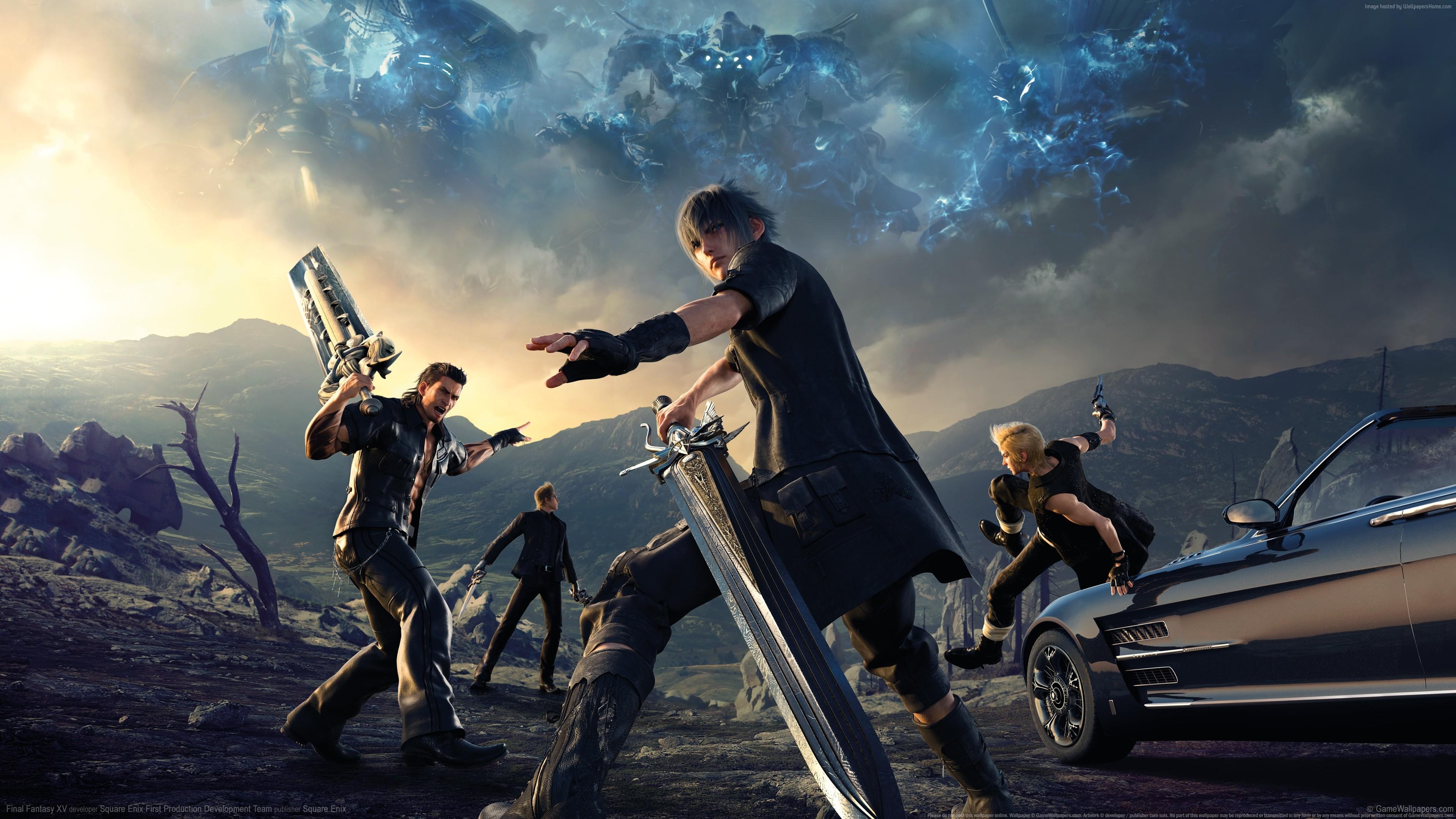 Заключительный Fantasy XV-эпизод Гладиолус. обои скачать