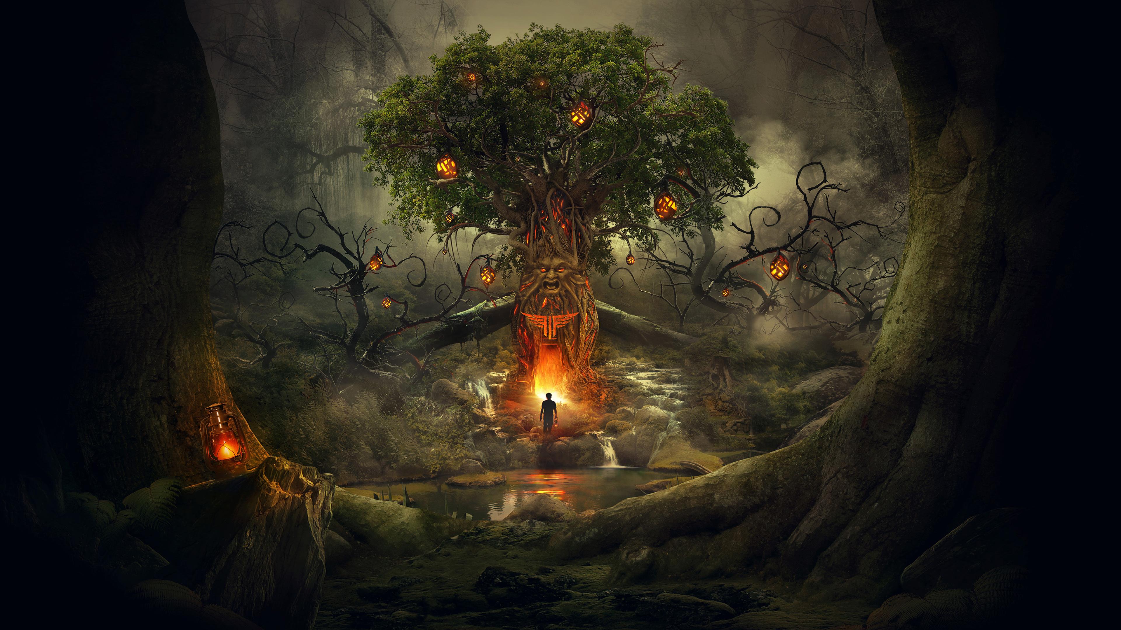 Страшный лесной сон обои скачать