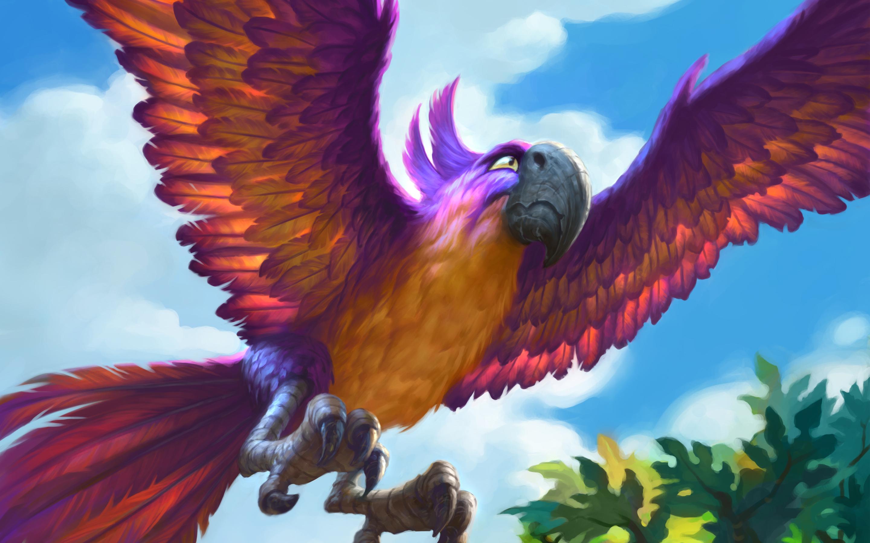 Jeweled macaw. обои скачать