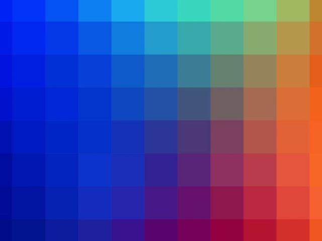 Синий зеленый оранжевый цвета сетка абстракция