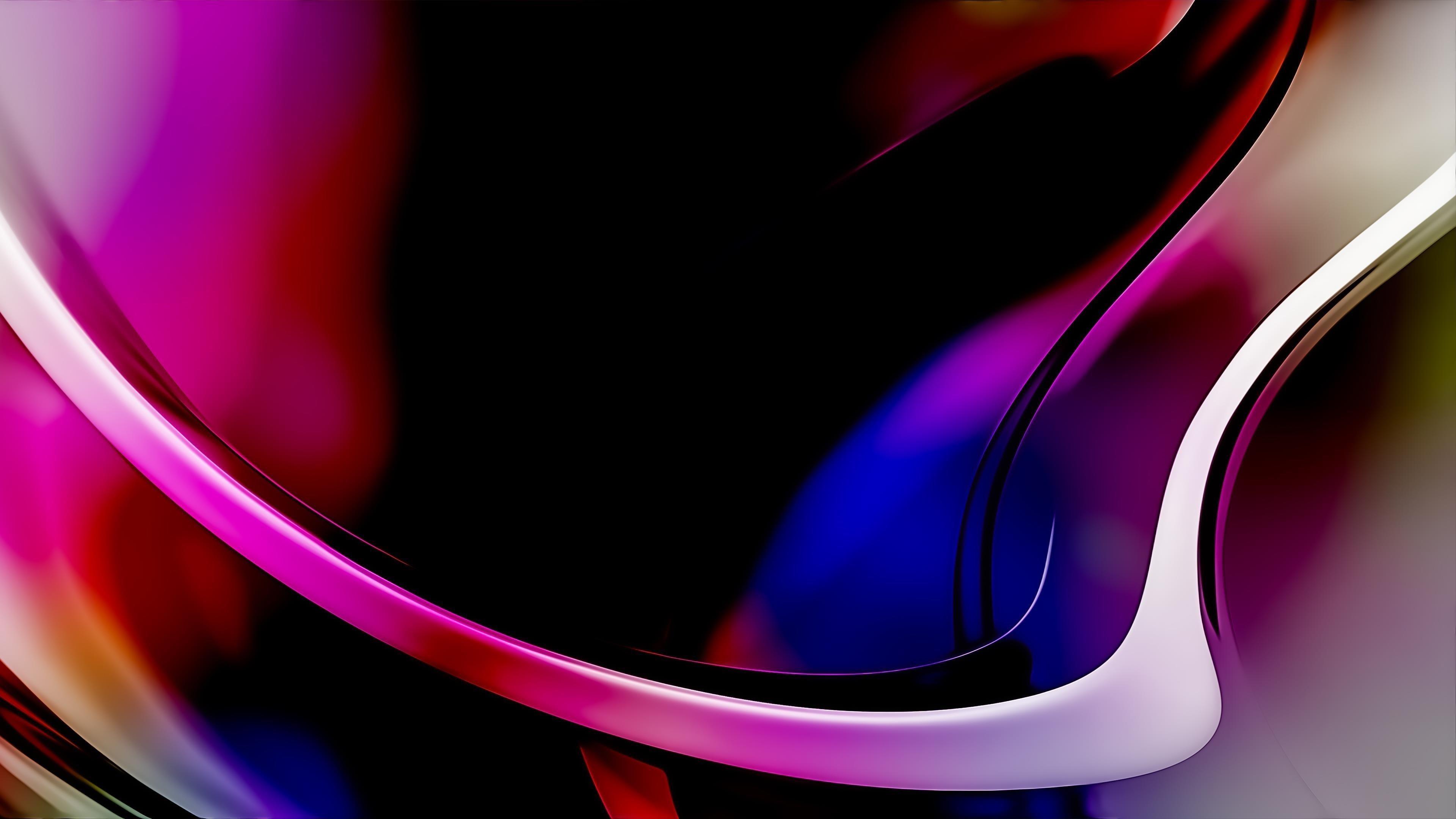 Фрактал фиолетовый синий абстрактный формы обои скачать
