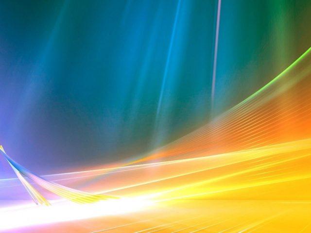 Желто-синяя волнистая линия блестящий фон абстрактный